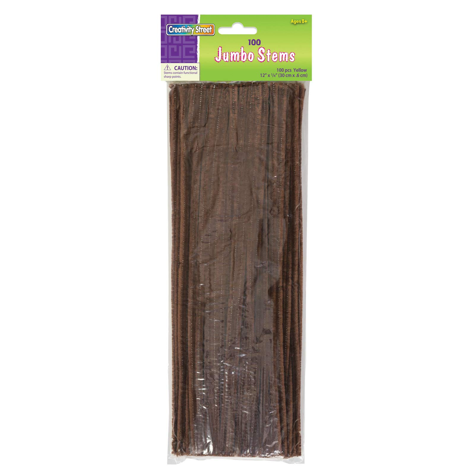 Creativity Street Chenille Stems/Pipe Cleaners 12 Inch x 6mm 100-Piece, Brown