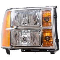 Replacement Passenger Headlight Compatible with 2007-2014 Sierra Pickup Truck 25799194