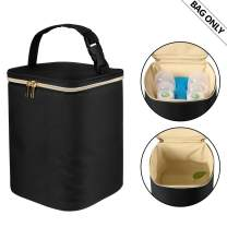 Teamoy Breastmilk Cooler Bag, Baby Bottles Bag for up to 4 Large 9 Ounce Bottles and Ice Pack, Perfect for Nursing Mom Back to Work, (Bag ONLY), Black