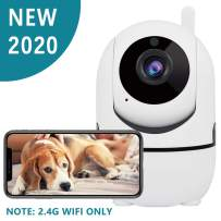 Dog Camera, 1080P Dog Camera with Phone App, Pan/Tilt/Zoom Home Camera with 2-Way Audio, AI Human Detection, NightVision, Cloud Storage/TF Card, Camera for Pets/Baby, 2.4G WiFi Only, Not Support 5 G