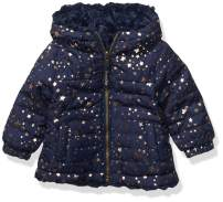 LONDON FOG Baby Girls Midweight Fleece Lined Jacket