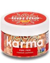 Karma Nuts Peri Peri Chili Spiced Cashews | 8 oz Jar | Whole, Roasted Cashews | Air Roasted, No Oil | Natural, Minimally Processed | Non-GMO, Gluten-Free, Vegan, Kosher | Rich in Antioxidants + Fiber
