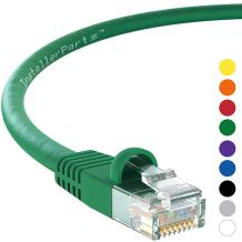 InstallerParts Ethernet Cable CAT6 Cable UTP Booted 3 FT - Green - Professional Series - 10Gigabit/Sec Network/High Speed Internet Cable, 550MHZ