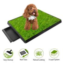 iMounTEK Grass Patch for Dogs, Artificial Grass for Dogs Potty with Tray, Fake Grass for Dogs Indoor and Outdoor Use, Puppy Training Pad, Best for Medium and Small Dog