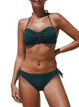 GOSOPIN Women Knot Push up Bikini Set Two Piece Halter Swimwear
