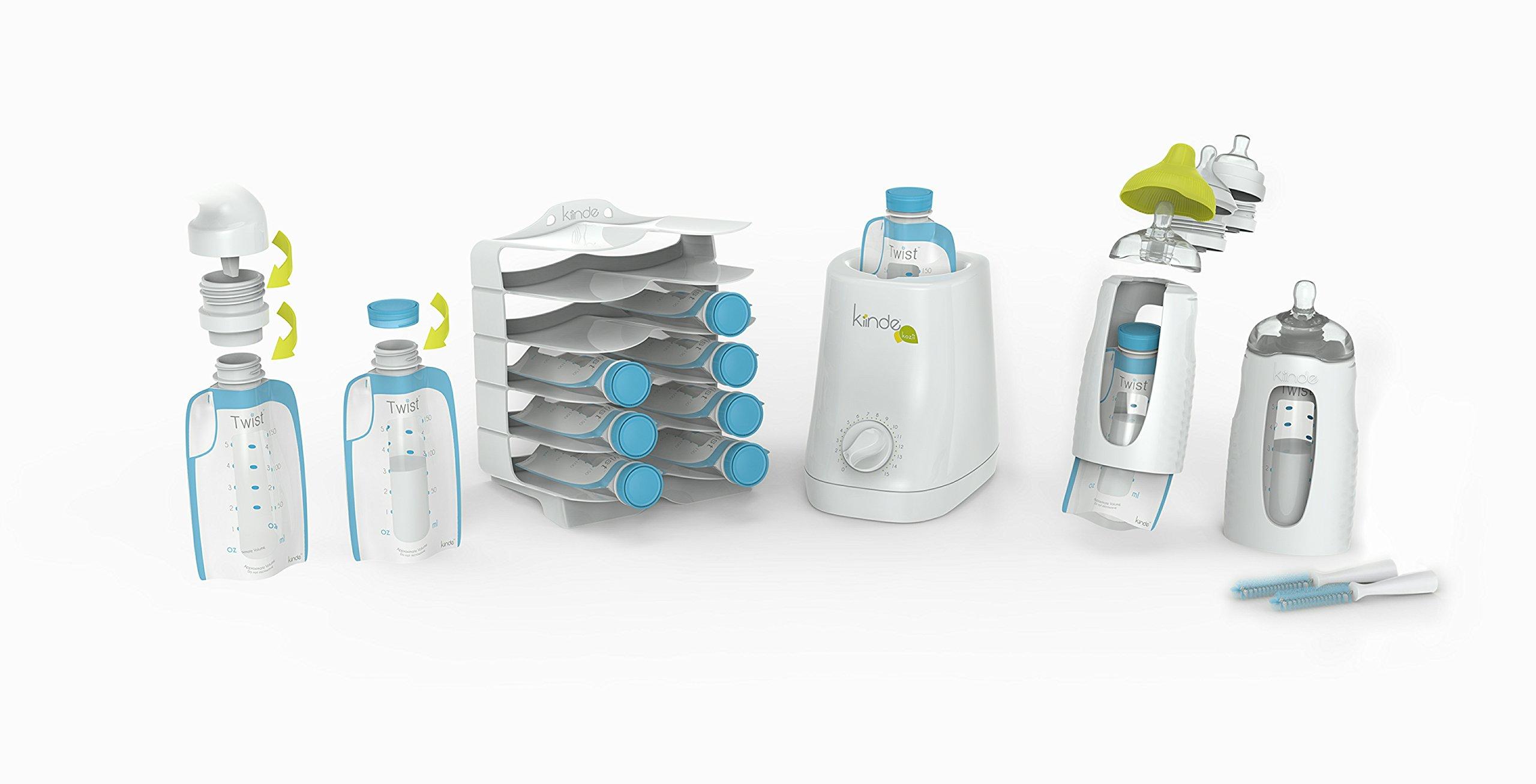 Kiinde Twist Breast Milk Storage Bag Baby Feeding System and Warmer Gift Set, New Mom Gift