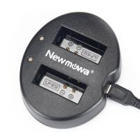 Newmowa Dual USB Charger for Canon LP-E12 and Canon EOS M M2 M10 M50 M100 M200 EOS 100D EOS Rebel SL1 PowerShot SX70 HS
