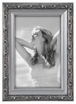 Malden International Designs Fashion Metals Bezel Wooden Picture Frame, 4x6, Silver