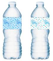 20 Its a Boy Water Bottle Labels Blue and White Baby Shower Party ; Waterproof Water Bottle Wrappers; Its a Boy Water Bottle Stickers Labels (10 Blue and 10 White)