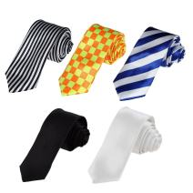 Dan Smith DAN3028 Multicolored Skinny Ties Management For Dress Polyester Width Designer Skinny Ties - 5pc