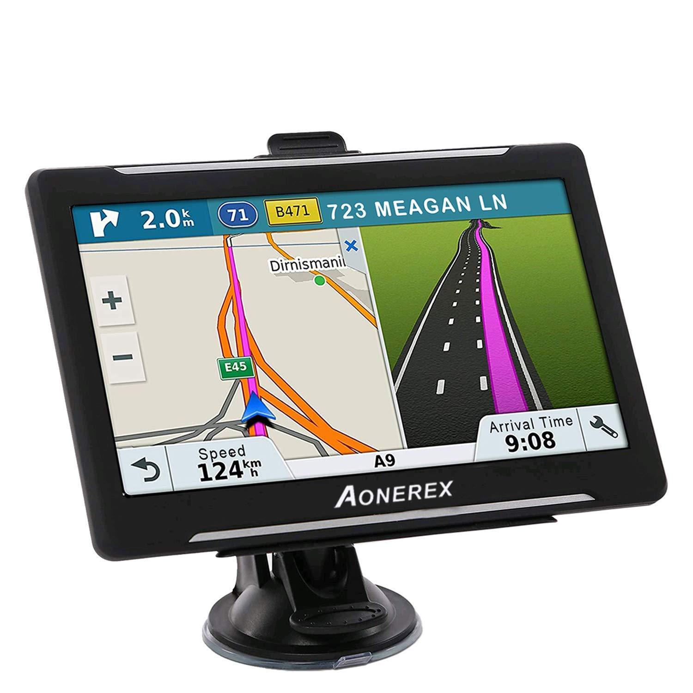 GPS Navigation for Car, Aonerex 7 inch HD 8GB&256MB GPS Navigation System,Spoken Turn- to-Turn Traffic Alert Vehicle Car GPS Navigator,Lifetime Free Map Updates