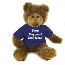 Plushland Adorable Frankie Bear 12 Inches, Stuffed Animal Personalized Gift - Great Present for Mothers Day Valentine Day Graduation Day Birthday Christmas - Custom Text on Hoodie (Navy)
