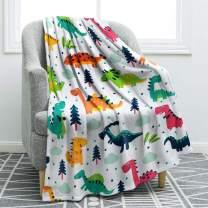 "Jekeno Cartoon Dinosaurs Throw Blanket Soft Ligtweight Durable Cozy Bed Couch Blanket Plush Microfiber 50""x60"""