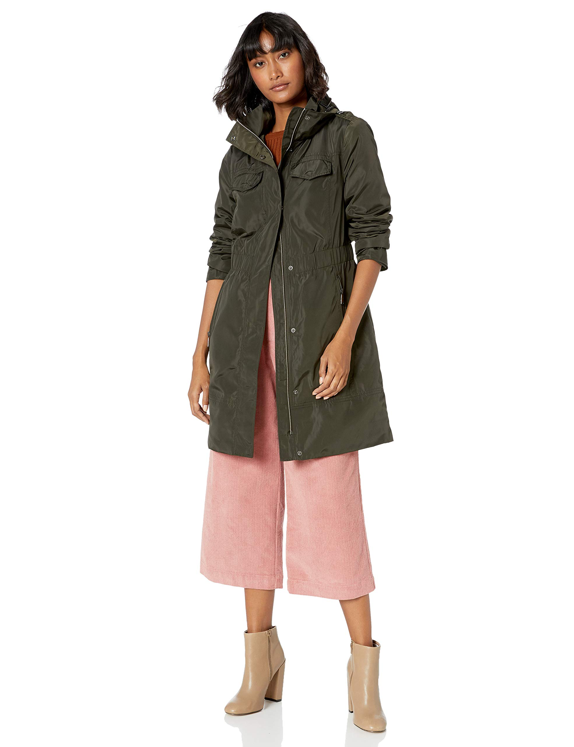 BCBGeneration Women's Hooded Anorak with Waist Detail