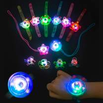 AMASKY Halloween Party Favors,Glow in The Dark Party Favors for Kids Birthday Prizes Box Toys for Classroom Boys Girls Bracelets Rings Necklaces(12 Packs)