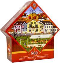 MasterPieces Farmer's Market - Pumpkins 500 Piece Diamond Shaped Jigsaw Puzzle by Art Poulin