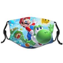 Flying-Mario Special Design Reusable Masks With Filters For Boys And Girls Adjustable Ear Loop Washableface Masks Protection Against For Dust Exhaust Cold Smog