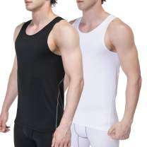 Sieayd Men's Sleeveless Tank Top Cool Dry Compression Baselayer Workout Vest