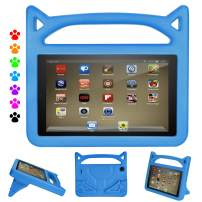Ubearkk Kids Case for All New 7 inch Tablet (Compatible with 2019&2017&2015 Release), Light Weight Anti Slip Shock Proof Handle Stand Kids Friendly Protective Cover Case for 7 inch Display Tablet