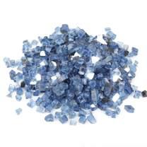 Stanbroil 10-Pound 1/2 inch Fire Glass for Fireplace Fire Pit, Pacific Blue Reflective