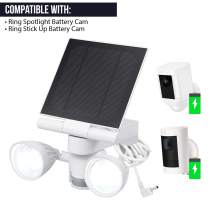 Wasserstein Floodlight & Solar Panel Charger, Motion-Activated, Compatible with Stick Up Cam & Spotlight Cam Only (1- Pack, White)