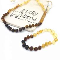 Amber Necklace and Bracelet Set- Certified Baltic Sea Amber - Ombre Combo