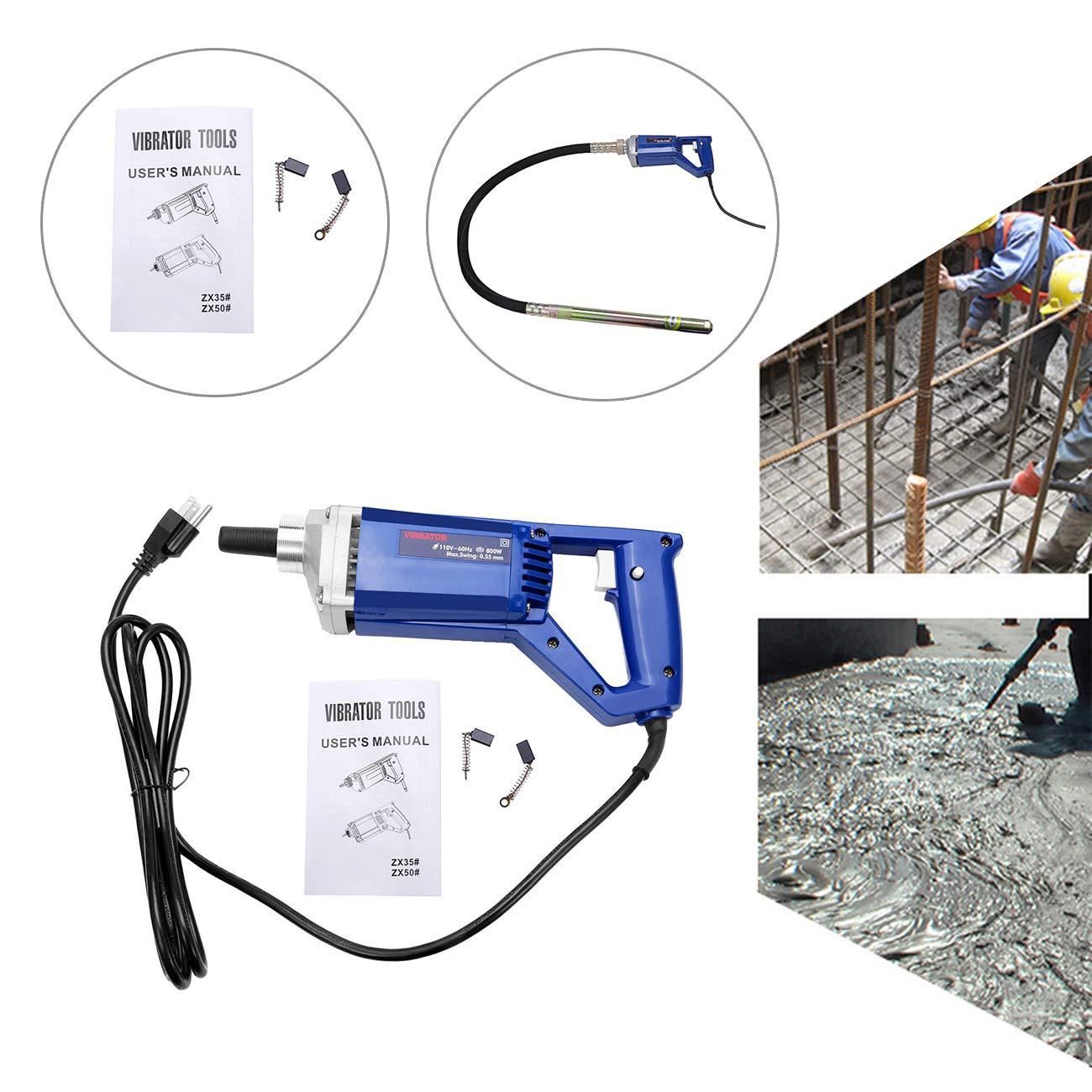BEAMNOVA Electric Concrete Vibrator Hand Held 13000 VPM 4.9 Feet Shaft