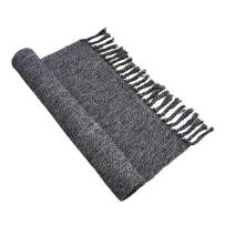 "Ustide Gray Hand Woven Cotton Rug Machine Washable Living Area Rug,Gray&Black, 47""x70"