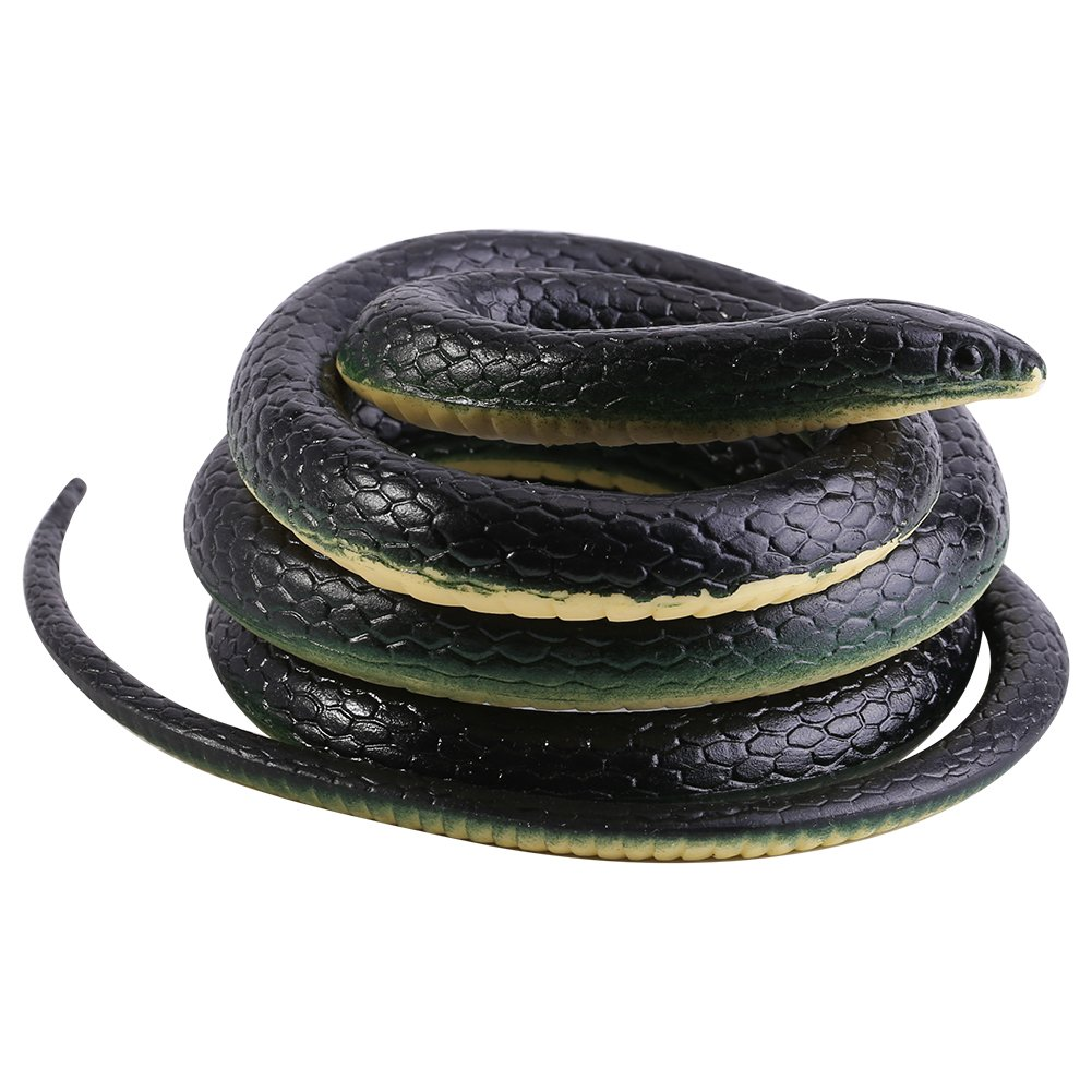 4.3Ft Long Realistic Soft Rubber Snake Garden Props Funny Joke Prank Toy Gift Hot