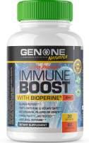 GenOne Nutrition - Premium Immune Boost with Bioprene - 100% Natural, Aids with Boosting Immune System - Vitamin C, European Elderberry, Zinc, Lions Mane - Vegan Safe - 60 Capsules