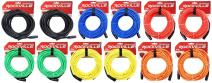 12 Rockville 50' Female to Male REAN XLR Mic Cable (6 Colors x 2 of Each)