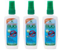 Greenerways Organic Insect Repellent, Premium, USDA Organic, Non-GMO, Natural, Mosquito-Repellent, Bug-Repellant, Best Natural Bug Spray, Travel Bug Repellent, Bug Spray 3-Pack (3) 4OZ - MSRP 29.97