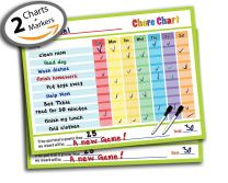 "Reward Chart - Behavior Chart - Chore Chart - Goal Setting Chart - Responsibility Chart - Dry Erase Sticker - Non Magnetic Classroom & Home Teaching Resource - 14.5"" x 11"" inch (2 Pack; Lime)"
