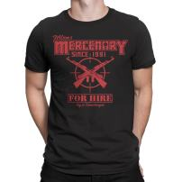 Secret Level Deadpool Inspired-Wade's Mercenary for Hire T-Shirt Mens Black