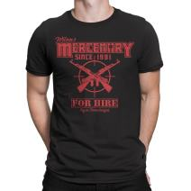 Secret Level Deadpool Inspired-Wade's Mercenary for Hire T-Shirt Mens Black