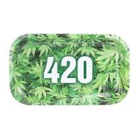 Metal Rolling Tray, 420 Green Design by V Syndicate (Medium)