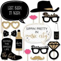 Nash Bash - Nashville Bachelorette Party Photo Booth Props Kit - 20 Count