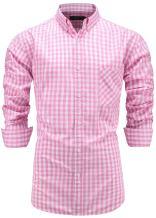 Emiqude Men's 100% Cotton Regular Fit Long Sleeve Button Down Plaid Dress Shirt