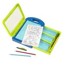 Melissa & Doug Adventure Design Activity Kit: 9 Double-Sided Plates, 4 Colored Pencils, Crayon