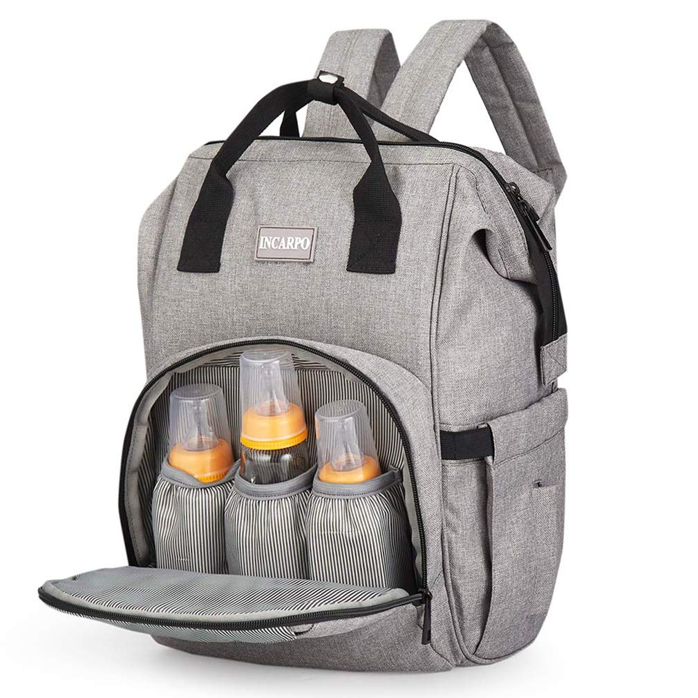 Diaper Bags, Large Capacity Waterproof Travel Backpack w/Insulated Pockets