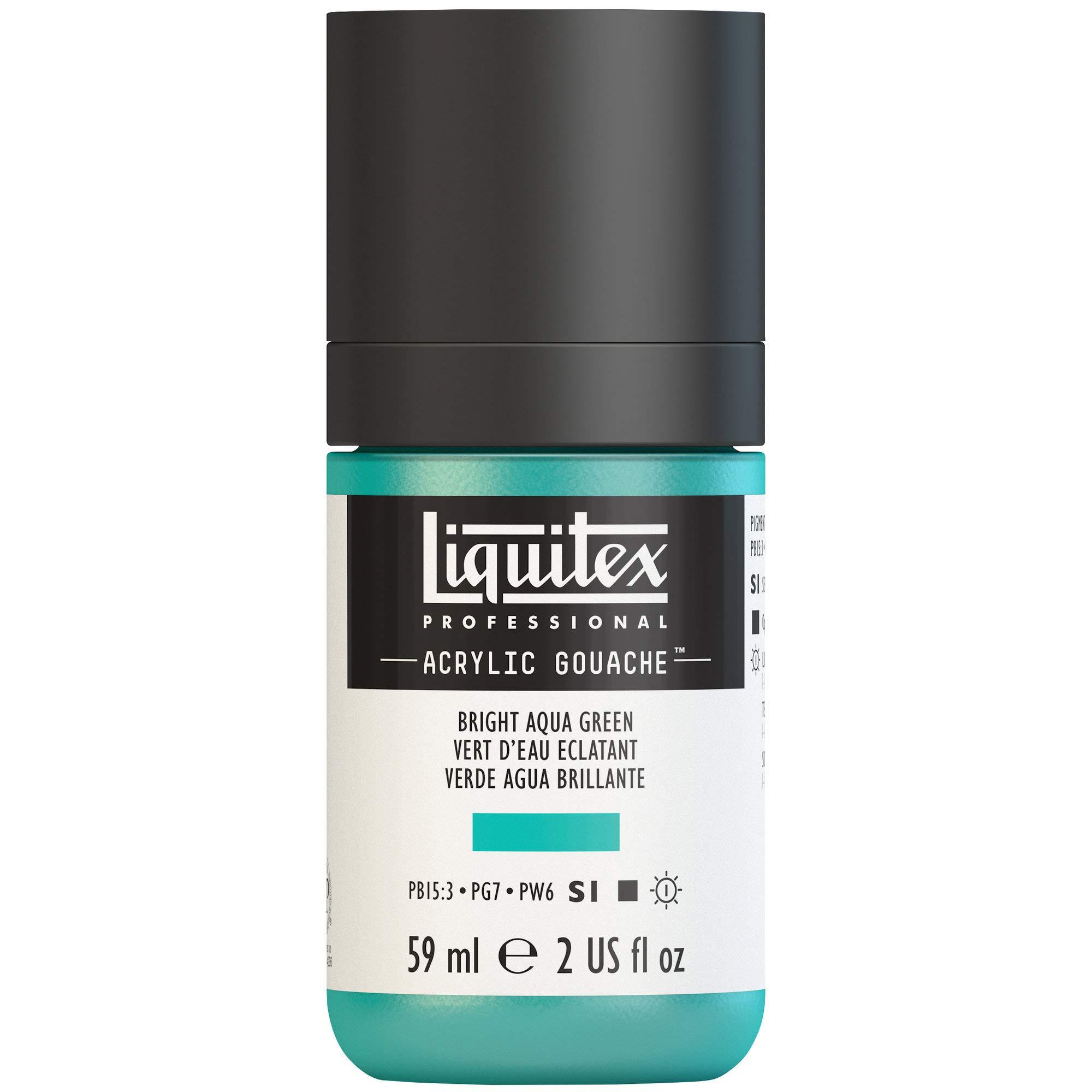 Liquitex Professional Acrylic Gouache 2-oz bottle, Bright Aqua Green