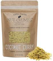 Appel Foods - Nut Crumbs - Bread Crumb Alternative - Gluten Free - Sugar Free - Low Carb - Low Sodium - Raw, Premium Nuts - Coconut Curry