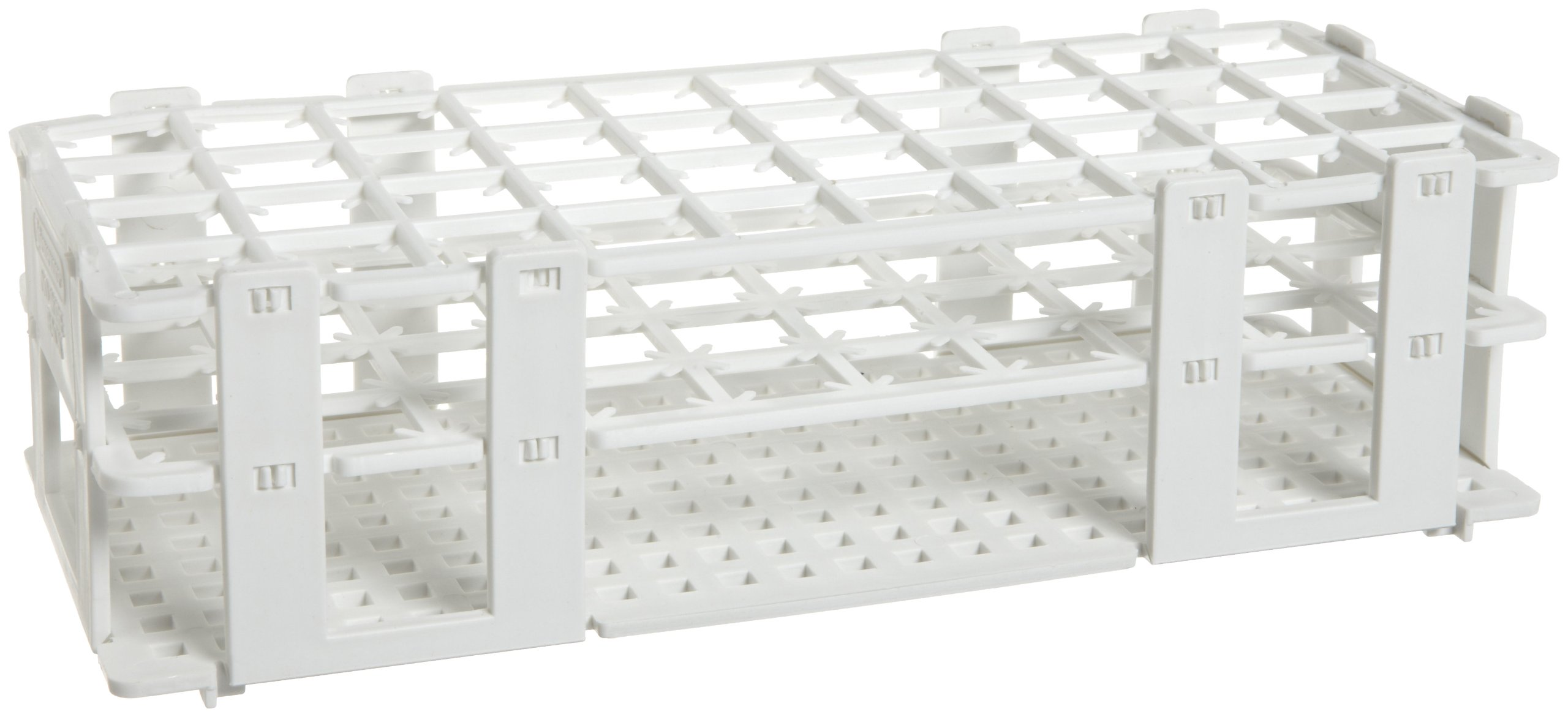 Bel-Art F18749-0002 No-Wire Test Tube Grip Rack; 18-20mm, 40 Places, 9³/₄ x 4¹/₈ x 2³/₄ in., Polypropylene