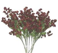 Ella and Lulu Dessign Fake Artificial Baby Breath Stem Flowers Real Touch Floral Bouquet for Home Office Centerpiece Arrangements Decor vase, 18-in, One Size, Burgundy