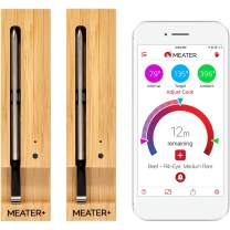 MEATER+ 2 Unit Bundle - Save $9 | 165 ft Range Version of the True Wireless Smart Meat Thermometer for the Oven Grill Kitchen BBQ Smoker Rotisserie with Bluetooth and WiFi Digital Connectivity …