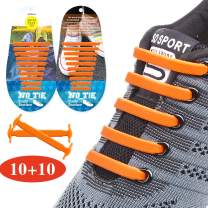 EZIGO Upgraded No Tie Shoelaces Widened Elastic Shoelaces for Adults/Kids Tieless Shoe Laces Waterproof Rubber Shoelaces for Sneakers Boots Board Shoes