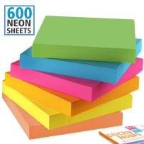 Homolley Small Sticky Notes - 3 X 3 Sticky Notes for All - 6 Color Sticky Pads - Blue, Pink, Yellow, Orange, Rose, Green Sticky Notes