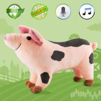 JUJIAN Plush Pig 11'' Musical Toys Singing and Talking Stuffed Animal Animated Interactive Toy Great Gift for Girls Boys Kids Toddlers Toy Valentines Gifts
