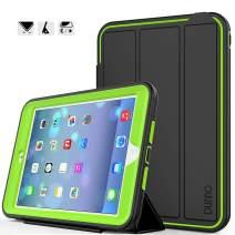 iPad Mini case iPad Mini 2 case iPad Mini 3 case DUNNO Heavy Duty Full Body Rugged Protective Case Whit Auto Sleep/Wake Up Stand Folio & Three Layer Design for Apple iPad Mini 1/2/3 (Black/Green)