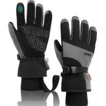 GRM Ski Snow Mittens for Men Women, Waterproof Warm Snowboard Gloves for Skiing Outdoor
